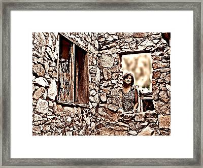 Walls Of The Heart Framed Print by Kimo Fernandez