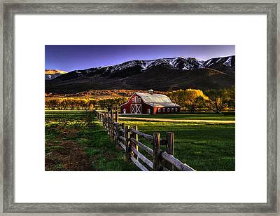 Wallsburg Red Barn Framed Print