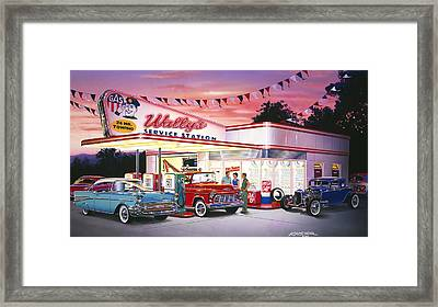 Wallys Service Station Framed Print by Bruce Kaiser