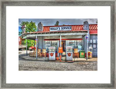 Wally's Service Station Framed Print by Dan Stone