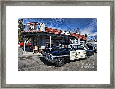 Wallys Service Station Framed Print