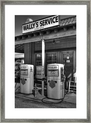 Wally's Service Station Framed Print