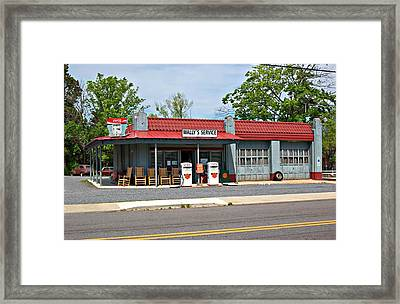 Wallys Service Station Mt. Airy Nc Framed Print by Bob Pardue