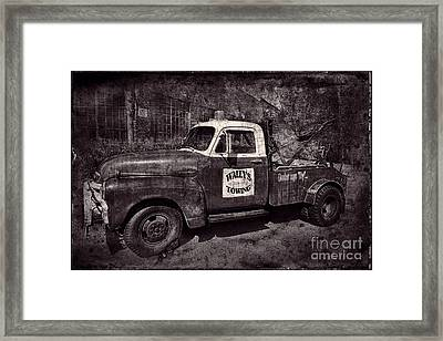 Wally's Towing Bw Framed Print by David Arment