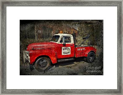 Wally's Towing Framed Print by David Arment