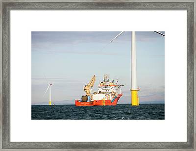 Walney Offshore Windfarm Framed Print