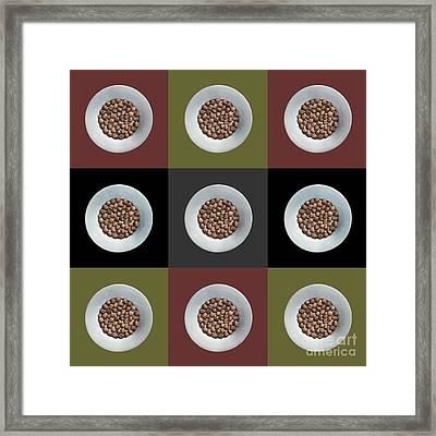 Walnut 3x3 Collage 1 Framed Print by Maria Bobrova