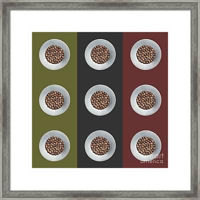 Walnut 3x3 Collage 4 Framed Print by Maria Bobrova