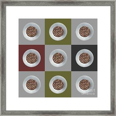 Walnut 3x3 Collage 5 Framed Print by Maria Bobrova