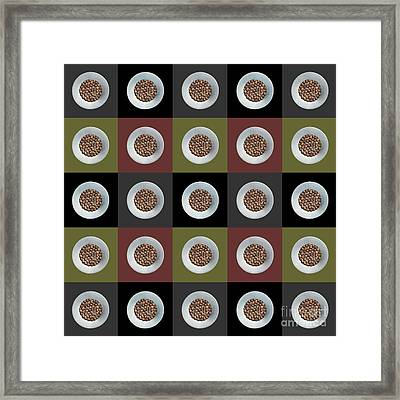 Walnut 5x5 Collage 2 Framed Print by Maria Bobrova