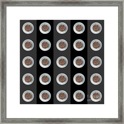 Walnut 5x5 Collage 3 Framed Print by Maria Bobrova