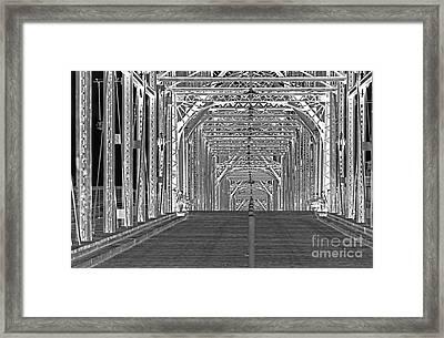Walnut Black And White Framed Print by Geraldine DeBoer