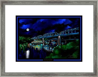 Walnut Street Bridge - Chattanooga Landmark Series - # 1 Framed Print by Steven Lebron Langston