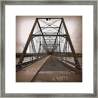 Walnut Street Bridge Framed Print
