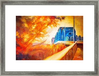 Walnut Street Walk Framed Print