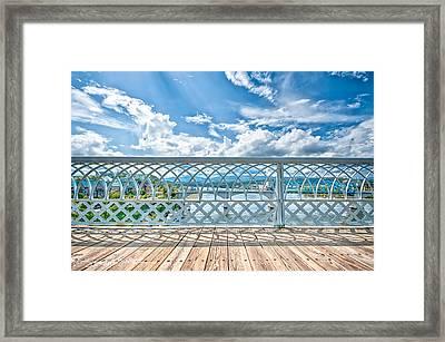 Walnut Street Walking Bridge Framed Print