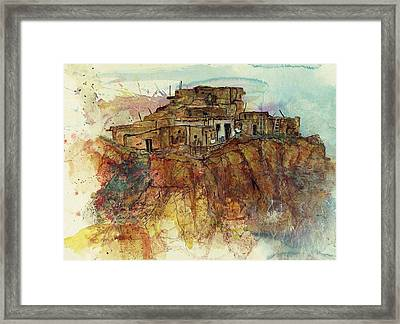 Walpi Village Hopi Reservation Framed Print by Elaine Elliott
