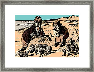 Walrus And Oysters Alice In Wonderland Framed Print
