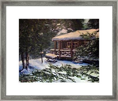 Walsh Cabin On Cranberry Lake Framed Print