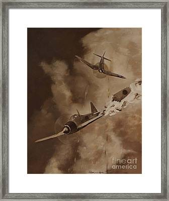 Framed Print featuring the painting Walsh Scores Another - Grisaille by Stephen Roberson