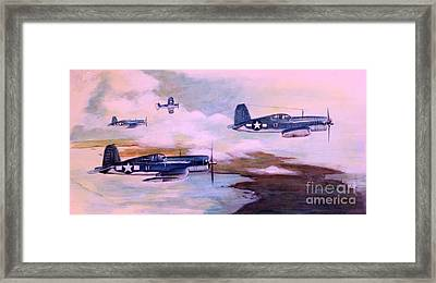 Framed Print featuring the painting Walsh's Flight Color Study by Stephen Roberson