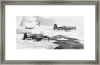 Framed Print featuring the painting Walsh's Flight Value Sketch by Stephen Roberson