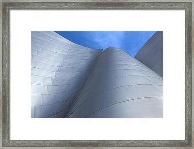 Framed Print featuring the photograph Walt Disney Concert Hall Architecture Los Angeles California Abstract by Ram Vasudev