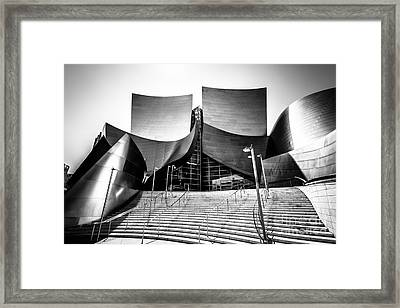 Walt Disney Concert Hall In Black And White Framed Print