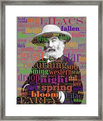 Walt Whitman Framed Print by Eric Edelman