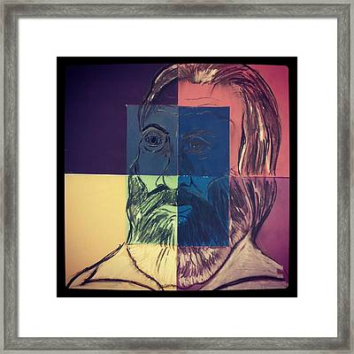 Walt Whitman In Color Framed Print by Nickolas Kossup