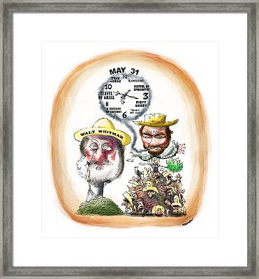 Walt Whitman Meets Clint Eastwood Framed Print by Mark Armstrong