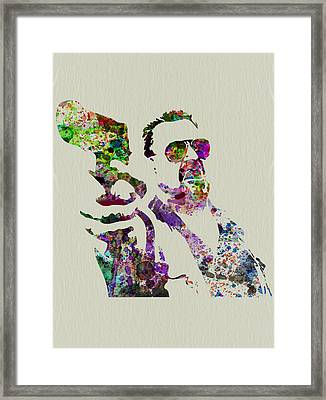 Walter Big Lebowski  Framed Print by Naxart Studio