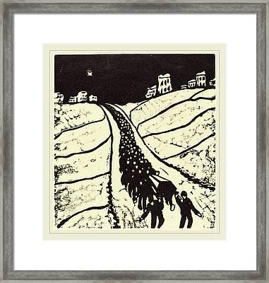 Walter Gramatté, Burial Begrabnis, German Framed Print