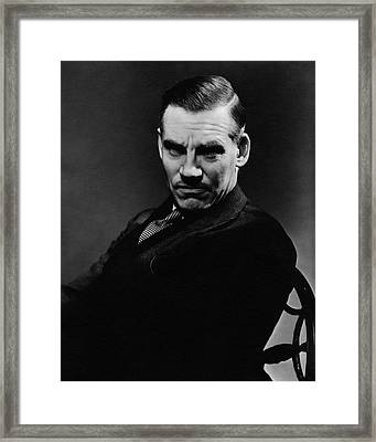 Walter Huston Scowling Framed Print by Lusha Nelson