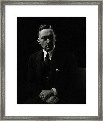 Walter Lippmann In Shadow Framed Print