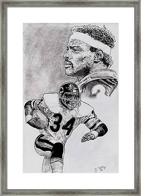 Walter Payton Framed Print by Jonathan Tooley