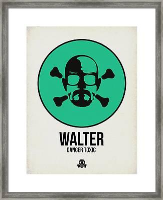 Walter Poster 1 Framed Print by Naxart Studio