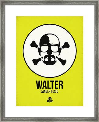 Walter Poster 2 Framed Print by Naxart Studio