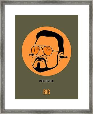 Walter Sobchak Poster 1 Framed Print by Naxart Studio