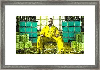 Walter White As Heisenberg Painting Framed Print