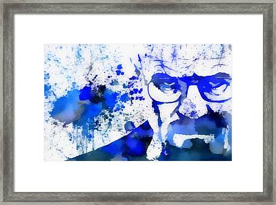 Walter White Blue Sky Framed Print by Dan Sproul
