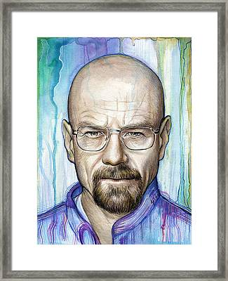 Walter White - Breaking Bad Framed Print by Olga Shvartsur