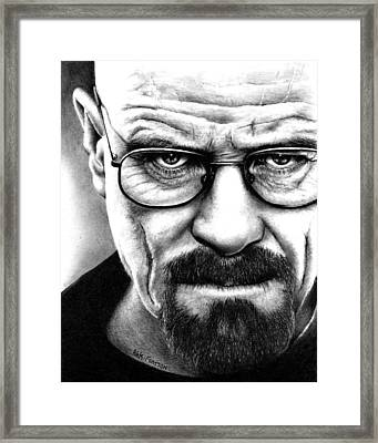 Walter White Breaking Bad Framed Print by Rick Fortson