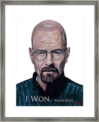 Walter White - I Won Framed Print by Tom Roderick