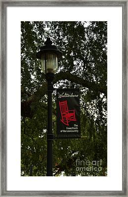 Walterboro Sc Side Walk Banner Framed Print by Bob Sample