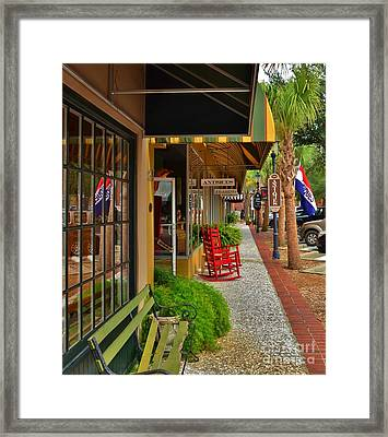 Walterboro Sc Sidewalk Framed Print by Bob Sample
