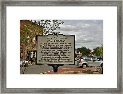 Walterboro South Carolina Framed Print by Bob Sample