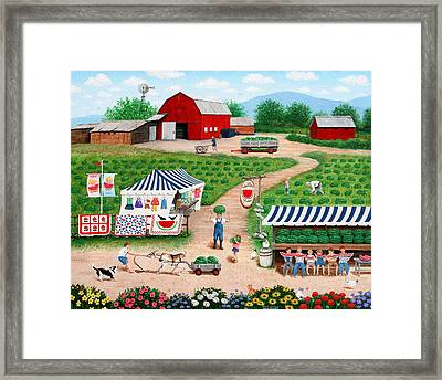 Walter's Watermelons Framed Print
