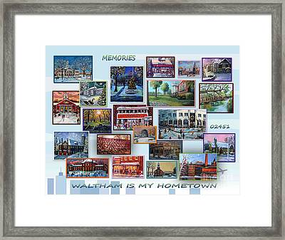 Waltham Is My Hometown Framed Print by Rita Brown