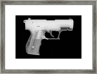 Walther P22 Reverse Framed Print by Ray Gunz